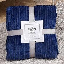 Зимнее воздухопроницаемое одеяло, мягкое дышащее одеяло, тонкое Клетчатое одеяло в полоску, покрывало на кровать