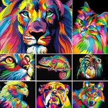 DIY 5D алмазов картина животного лев кошка Набор для вышивания крестиком Полный Сверла вышивка мозаичная картина с изображением Стразы Декор ...