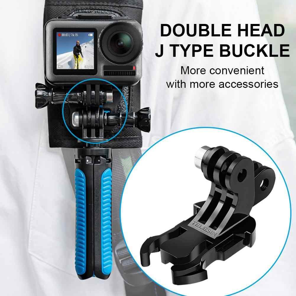 Action Sport Kamera Doppel J Schnalle für GoPro Osmo Rucksack Quick Release  Umwandlung Zubehör J Haken Schnalle Montieren Sports Camcorder Cases