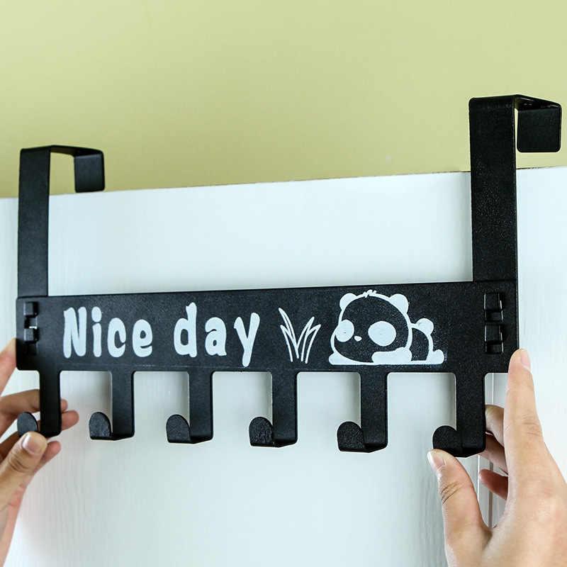 Задняя дверь из углеродистой стали Тип 6 Соединительный крюк прикроватный коврик задний крюк Бесшовные Без ногтей крючок-вешалка для одежды