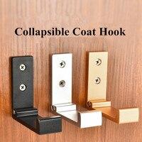 Colgador de aluminio plegable para bata, colgador de paños, colgador de pared rústico para llaves, bolsos, sombreros y abrigos, 020