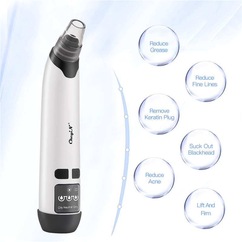 Electric Blackhead Removal Face Cleaner Vacuum Suction Warmer Heater Blackhead Acne Comedo Extractor Whitening Face Care Tools45