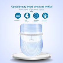 цена на 3-Color Led Phototherapy Mask Anti-Acne And Anti-Wrinkle Spa Facial Care Instrument Beauty Instrument Facial Skin Care Tool