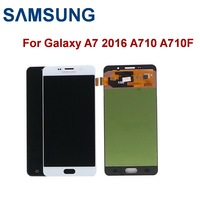 Original 5.5'' Super AMOLED LCD For SAMSUNG Galaxy A7 2016 LCD A7100 A710F A710 LCD Touch Display Screen Digitizer Replacement