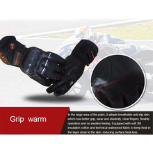 Motorcycle Riding Electric Heated Smart Gloves Touch Screen Outdoor Skiing Riding Thick Section Warm Gloves
