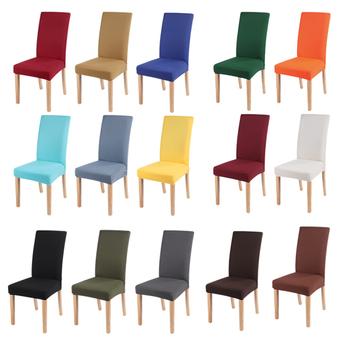 Szary kolor pokrowce na krzesła elastan pokrowce na krzesło na biurko ochronna powłoka siedzenia pokrowce na Hotel bankiet ślub uniwersalny rozmiar 1PC tanie i dobre opinie Urijk CN (pochodzenie) M140790 Gładkie barwione Nowoczesne Plaża krzesło Bankiet krzesło Ślub krzesło Hotel krzesło
