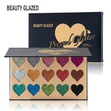 Beauty Glazed Makeup 15 Colors Pressed Heart Makeup Glitters Eyeshadow Palette Shimmer Pigment Eye Shadow Pallete Maquiagem
