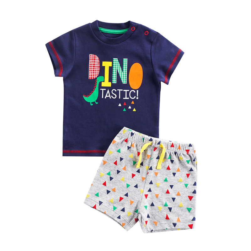 Brand Cotton Baby Sets Leisure Fashion Summer Clothes Boy T-shirt + Shorts Sets Toddler Clothing Baby Boy Clothes Newborn 6