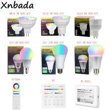 MiBoxer(Milight) 2,4G Led Bombilla MR16 GU10 E14 E27 lámpara Led inalámbrico inteligente W 4W 5W 6W 9W 12W CCT/RGBW/RGBWW/RGB + CCT Led Luz