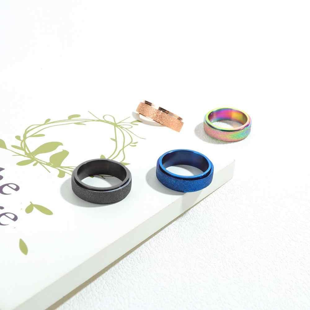SIZZZ Модные мужские матовые титановые стальные Простые студенческие уличные кольца