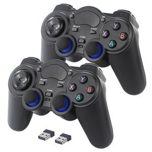 Image 2 - 2.4 グラムワイヤレスゲームコントローラジョイスティックゲームパッド用のusbレシーバーとPS3 アンドロイドテレビボックスラズベリーパイ 4 retropie retroflag nespi