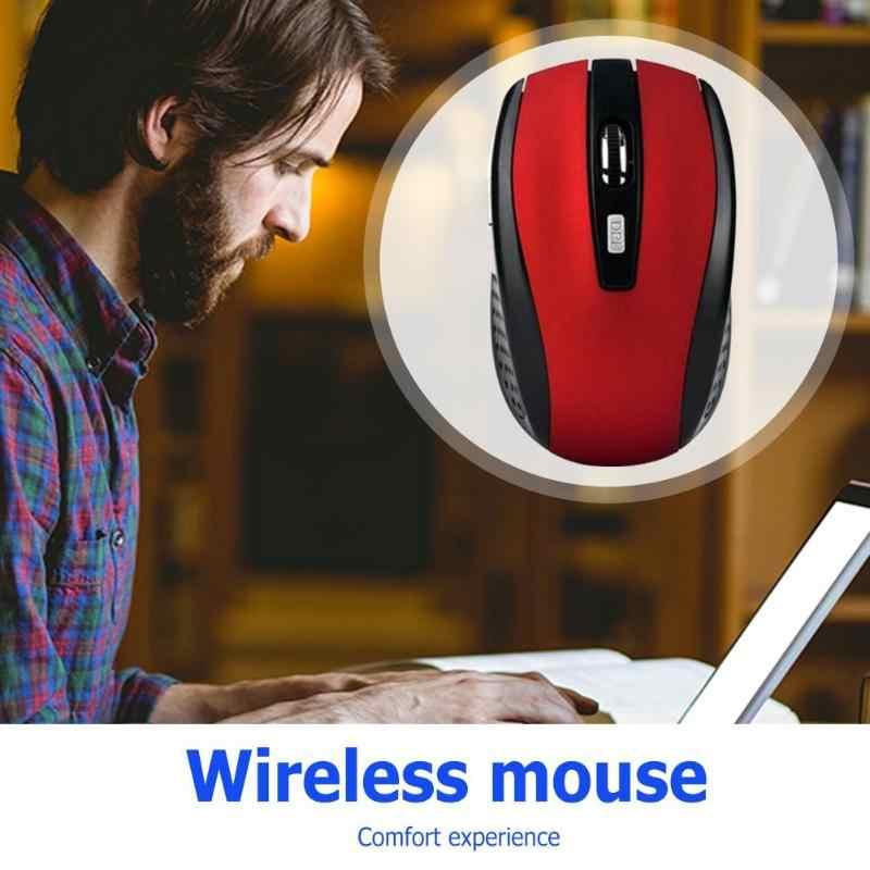 2.4 GHZ Wireless Gaming Mouse Optik USB Receiver Profesional Komputer Mouse 2000 DPI 6 Tombol untuk PC Laptop Desktop