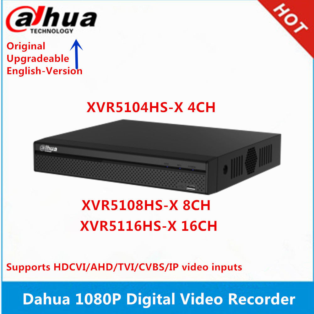 Oryginalny Dahua XVR5104HS-X 4CH i XVR5108HS-X 8CH i XVR5116HS-X 16CH max wsparcie 6MP kamera ip i 5mp kamera hdcvi
