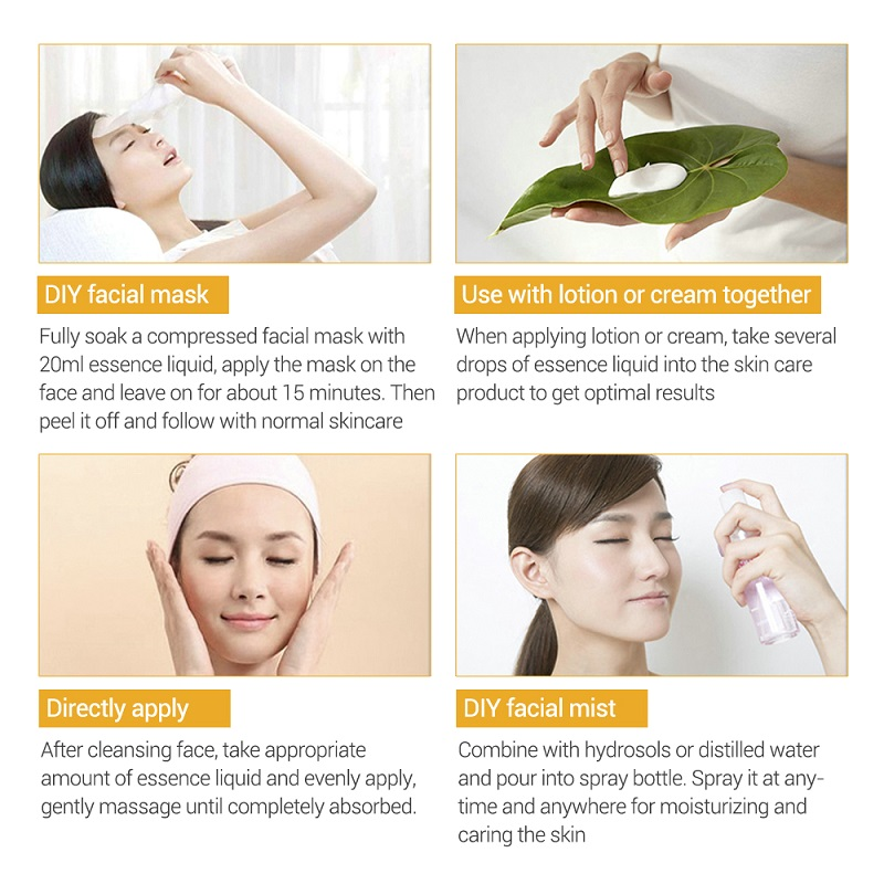 LANBENA Vitamin C Serum Hyaluronic Acid Whitening Face Serum Liquid Fade Dark Spots Remove Freckle Speckle Anti-Aging Skin Care