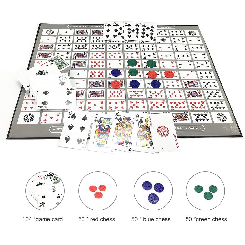 Seqüência jogo de mesa para criança adulto grande jogo de tabuleiro de xadrez inglês seqüência árabe jogo de mesa de festa da família brinquedo dropshipping