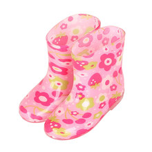 Cartoon Children Rain Boots Animal Fashion Princess Kids Plus Velvet Warm Rubber Antiskid Student Water Shoes 2-5Y bebe(China)