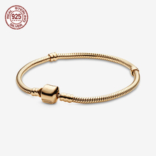 Luxurious 925 Sterling Silver Bracelets Moments Snake Chain Bracelet fit Charms Women Snake Chain Bracelet DIY Jewelry цена и фото