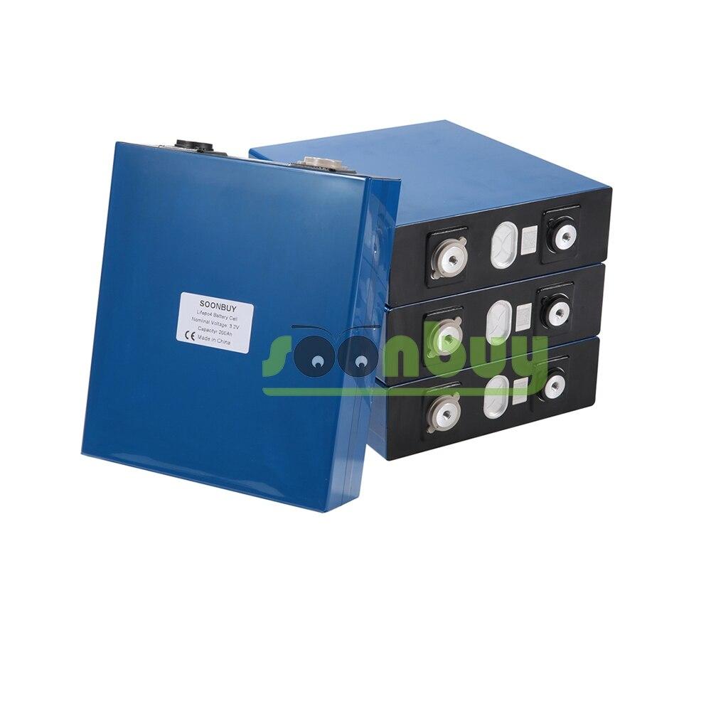 Nouvelle batterie rechargeable Lifepo4 3.2v 200ah 3.2v 12V 200ah batterie adaptée à l'énergie solaire longue durée 3500 Cycles EUUS sans taxe - 6