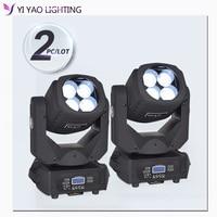 Led 4X25W Super Beam Moving Head Light dmx stage Effect Light for DJ Disco 2pcs/lot