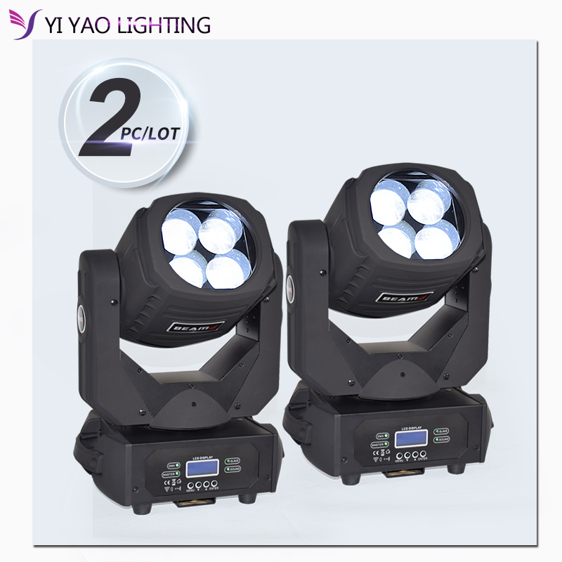 Led 4X25W Super Beam Moving Head Light Dmx Stage Effect Light For DJ Disco 2pcs/lot