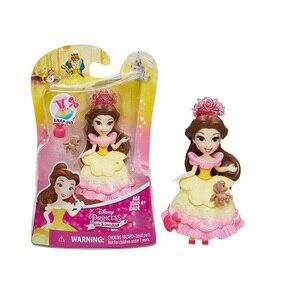 Image 4 - Disney Princess Belle Mulan Tiana  Merida Jasmine Rapunzel Ariel Pocahontas Cinderella Dolls Action Figure Model Toys for Girls