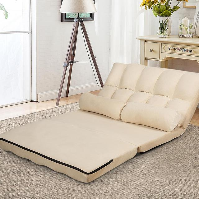 Foldable Floor Sofa Bed w/ 6-Position  4