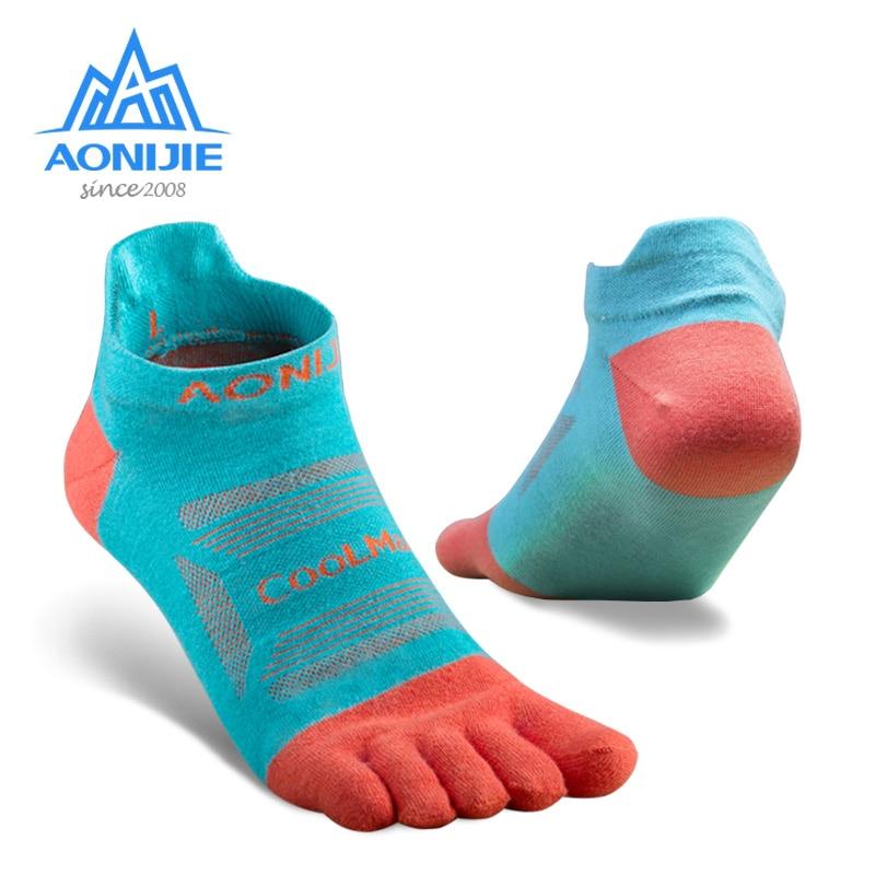Five-Toe Socks AONIJIE Running-Marathon-Race-Trail Athletic E4801 for 3-Pairs Quarter