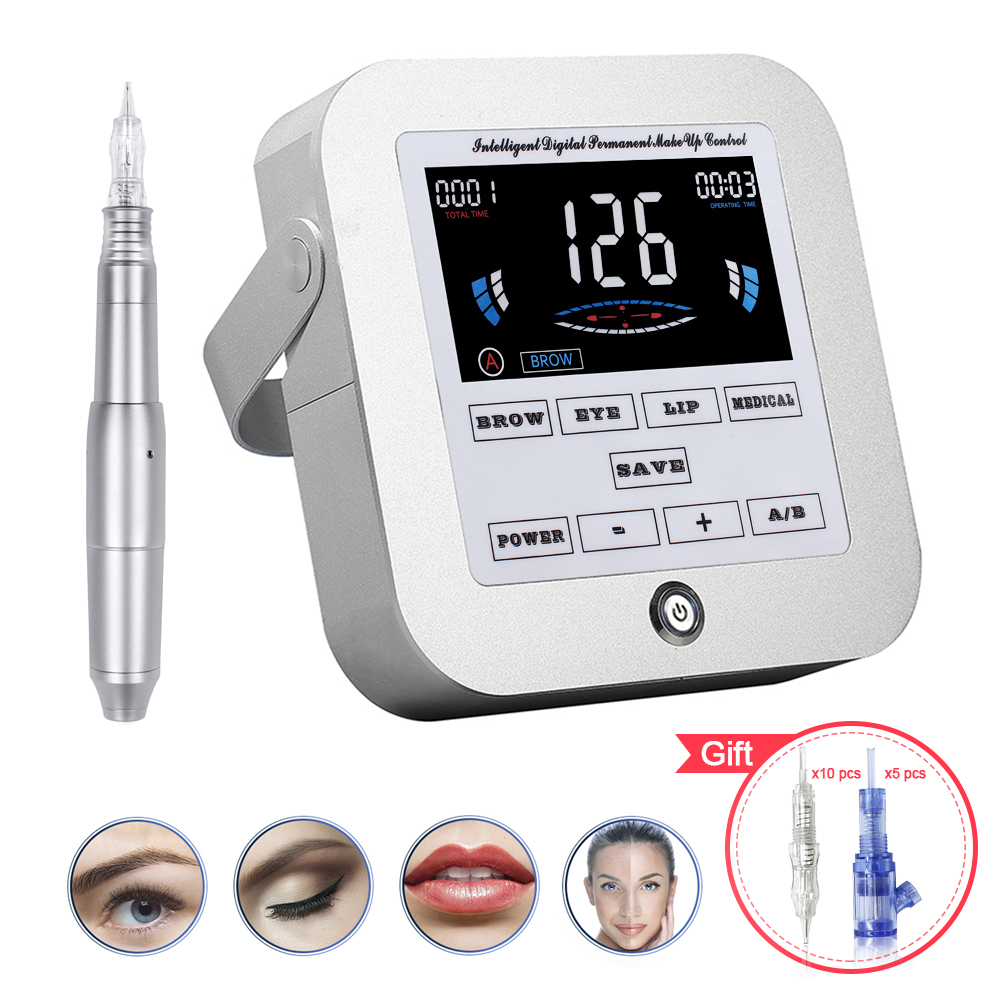 Biomaser New Permanent Makeup Machine Eyebrow Tattoo Professional Digital Device Machine Eyebrow Lip Pen Machine Sets  CTD003-2