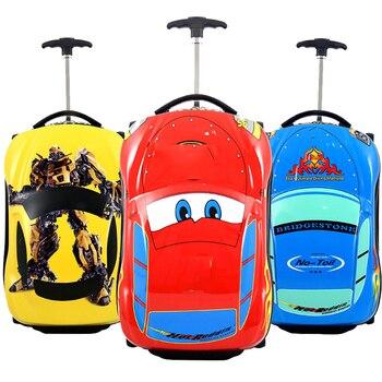 3D Car Kids Suitcase set Travel Luggage Children Travel Trolley Suitcase for boys suitcase for kids Rolling luggage suitcase фото