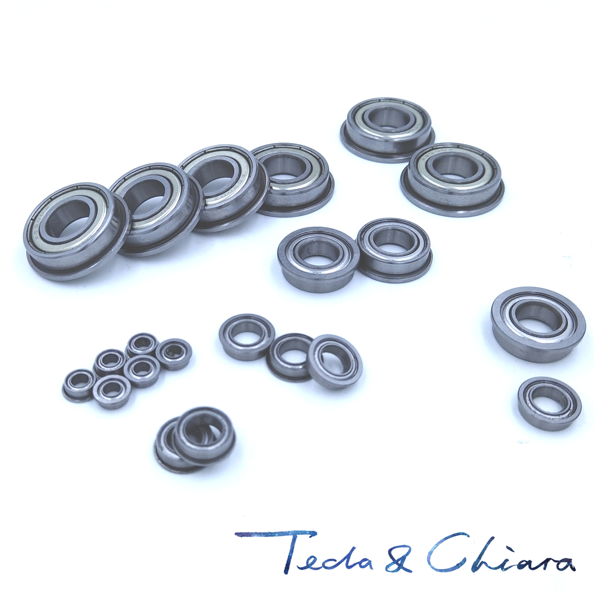 10Pcs 1Lot F604 F604-ZZ F604ZZ F604-2Z F604Z Zz Z 2z Flange Flanged Deep Groove Ball Bearings 4 X 12 X 4mm