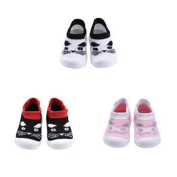 Niemowlęta buty z podeszwą odporne na ścieranie maluch dziergane buty ciepłe dziecko Prewalker antypoślizgowy gumowy spód niemowlęta dla chłopców i dziewcząt tanie i dobre opinie JOCESTYLE CN (pochodzenie)