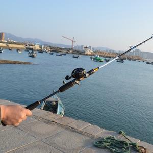 Image 3 - 当麻高速アクション日本海釣りロッド鋳造1.8メートル1.98メートル2.1メートル2セクションmh 50 180グラムカーボンスピニングボート釣竿