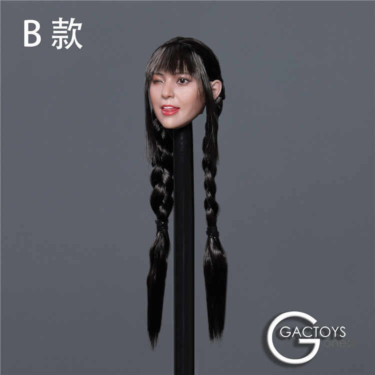 """GACTOYS 1//6 12/"""" Cute Female Figure Expression Head Sculpt Carved For Lovely Girl"""