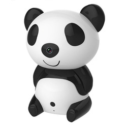 Wifi Wireless Mini Panda Camera IR Night Vision Remotely Baby Child Monitor 360 Degree Rotate Watching Motion Detect An-ti theft