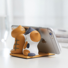 귀여운 고양이 휴대 전화 스탠드 브래킷 기본 전화 정제 kawaii 홀더 지원 책상 장식 아이폰에 대한 xiaomi 화웨이 ipad