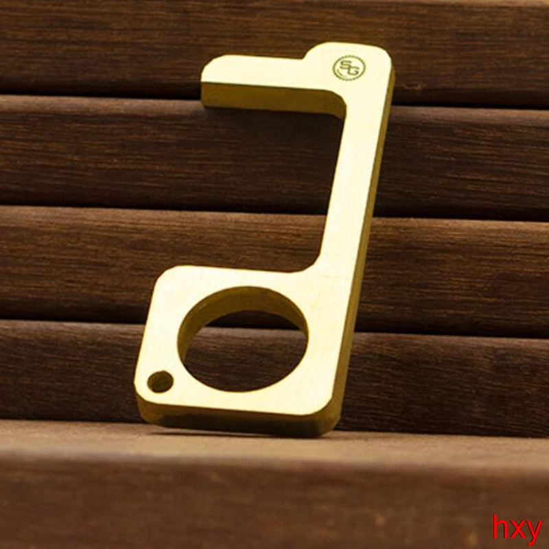 Anti-epidemic Anti-hygienic Anti-virus Brass Anti-contact Safety Protection EDC Isolation Key Door Opener Brass Door Opener