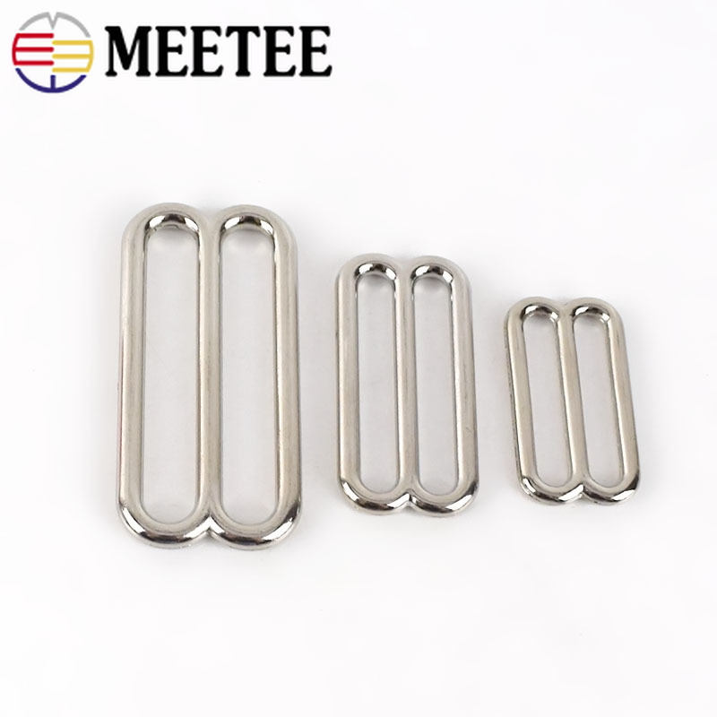 10/20pc 30/38/50mm Metal Belt Buckles O D 8 Ring Tri-Glide Bra Webbing Adjust Buckle Diy Bag Clothes Sewing Hardware Accessories