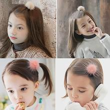 Hot Pompon Fur Ball Baby Headbands For Girls  Elastic Warm Handmade Cute Baby Hair Clips Christmas Gift Hair Accessories New