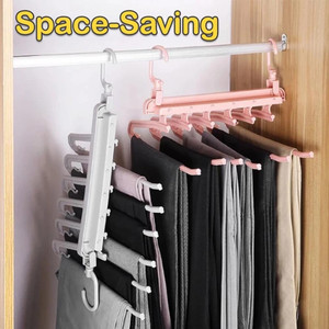 Folding Multi Functional Multilayer Pants Rack Home Wardrobe Storage Artifact clothes storage box вешалка вешалка для одежды^30|Drying Racks| |  -