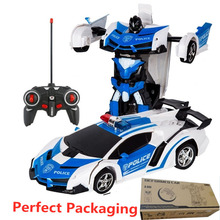 2In1 RC Car Transformation Robots Sports Vehicle Model Robots Toys Cool Deformation Car Kids Toys Gifts For Boys Girls Toys znatok robots