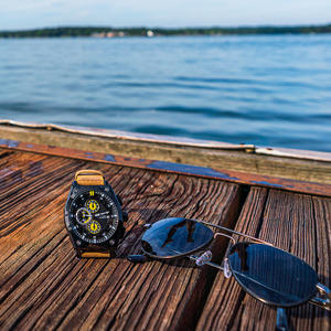 Image 5 - ساعات رجالي من MEGIR باللون الأزرق كوارتز بحزام جلدي من العلامة التجارية الأعلى ساعة معصم رياضية كرونوغراف للرجال ساعة رجالية