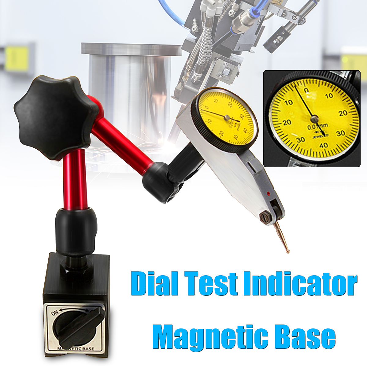 Mini Universal Flexible Dial Test Indicator Magnetic Base Holder Stand Dial Test Indicator Tool Magnetic Correction Gauge Stand