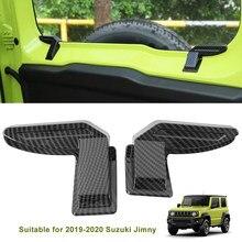 Cubierta de protección de alambre para parabrisas trasero de Suzuki Jimny Sierra JB64 JB74, color negro de carbono, ABS, entrega rápida al por mayor, 1 par