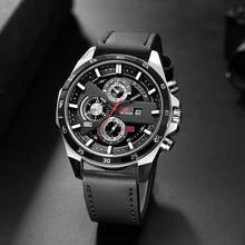 Samco New Creative Men's Quartz Watches Leather Waterproof Date Male Wrist Watch Luxury Brand Sport Military Watch Men Big Clock