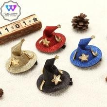 Witch Hat Mini Hair-Clips Headdress Festival Glitter Cosplay Party Halloween Cute Children