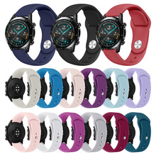 Silicone Watchband For Huawei GT/GT2 Band 46mm Smart Watch Strap for Huawei Honor Magic Watch 2 Replacement Wristband Bracelet silicone leather watchband for huawei watch gt gt2 46 honor magic 2 46mm watch band wrist strap bracelet belt for ticwatch pro