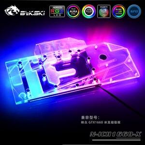Bykski Vollständige Abdeckung RGB / A-RGB GPU Wasser Kühl Block Für Inno3D GeForce GTX 1660 super Grafikkarte N-ICH1660-X