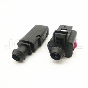 1-20 комплектов Комплект 1,5mm 2 контактный Мужской Женский Разъем для датчика Автомобильный катушка зажигания Разъем для Audi VW EOS Гольф 1J0973802 1J0973702