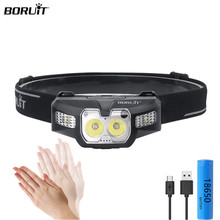 цена на Mini Headlamp 2* XP-G2+2*3030 Red Light LED IR Motion Sensor 5-Mode Headlight Rechargeable Head Torch Hunting Light