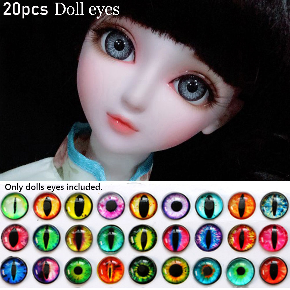20Pcs Glass Doll Eye Making DIY Crafts For Toy Dinosaur Animal Eyes AccessoriesD